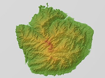 Yakushima Relief Map, SRTM.jpg