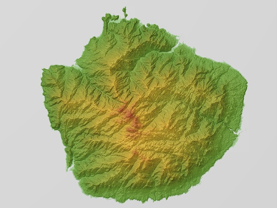 Yakushima Relief Map, SRTM