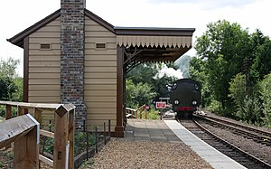 Nene Valley Railway - The brand new station building at Yarwell