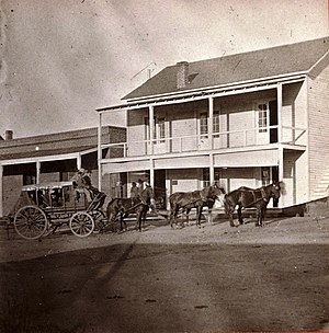 Josephine Earp - The first Yavapai County Courthouse and Jail, a wood frame structure, was on North Cortez Street in Prescott.