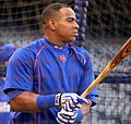 Yoenis Cespedes takes BP on -WSMediaDay (22291563783).jpg