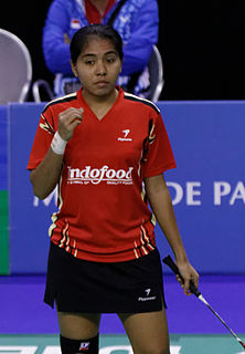 Nitya Krishinda Maheswari Indonesian badminton player