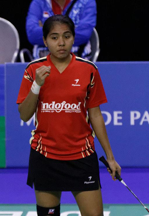 Yonex IFB 2013 - Eightfinal - Ma Jin - Zhong Qianxin — Nitya Krishinda Maheswari - Greysia Polii 02 (cropped)