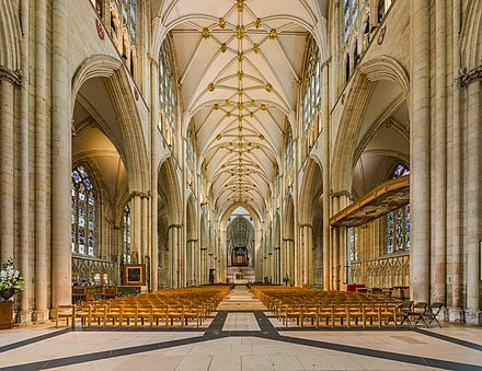 The nave of York Minster