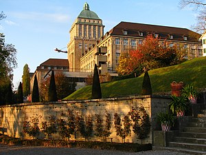University of Zurich - Main building by Karl Moser as seen from the south