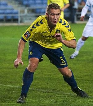 Martin Albrechtsen - Albrechtsen playing for Brøndby IF in 2016