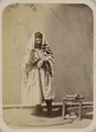 Zeravshan Okrug. Samarkand. A Jewish Man, Wearing a Prayer Shawl, Wrapping His Arm in Phylactery, in Preparation for Prayer WDL11152.png