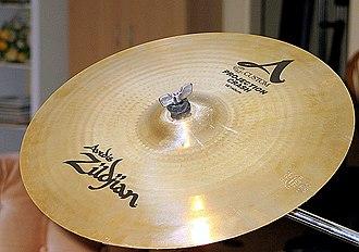 "Crash cymbal - A 16"" Zildjian A Custom Projection Crash."