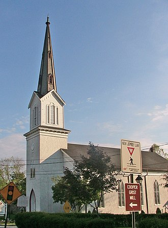 Long Valley, New Jersey - The Zion Lutheran Church in the center of Long Valley.