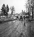 Zirc 1958, Köztársaság utca a Cuha patak hídjánál. Fortepan 79696.jpg