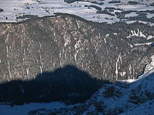Allgäu Alps - Zirmgrat (Salober/Zölferkopf), View from the Brentenjoch saddle (Vils side) to the south