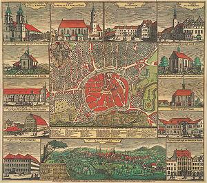 Zittau - Zittau im Jahre 1744