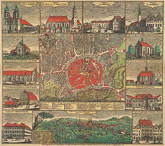 Zittau - Zittau in 1744