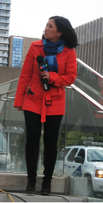 CFTO-DT - Zuraidah Alman at Nathan Phillips Square during the 2015 American League Division Series between the Toronto Blue Jays and Texas Rangers in October 2015.