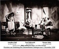 """""""Blick zurück im Zorn"""" Szene mit Anneliese Doll - Tom Witkowski - Werner Johst - 6.12.1958.jpg"""