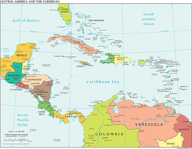 File Political Central America Cia World Factbook Jpg Wikimedia Commons