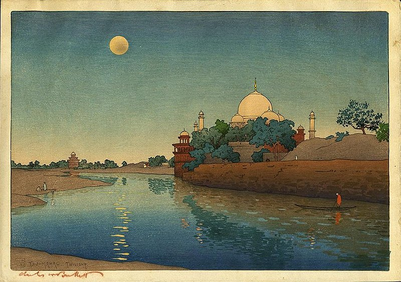 File:'Bartlett - Taj Mahal, Twilight', c. 1919.jpg