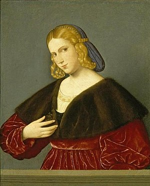 Vincenzo Catena - Portrait of a Woman, painting by Vincenzo Catena, ca. 1520, El Paso Museum of Art