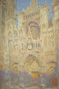 'The Rouen Cathedral at Sunset' by Claude Monet, 1894, Pushkin Museum.JPG