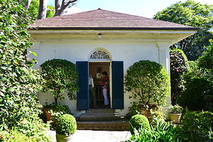 Eben Gowrie Waterhouse - Garden studio at Eryldene (camellias at right)