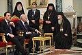 Συνάντηση με τον Πατριάρχη Ιεροσολύμων και πάσης Παλαιστίνης Θεόφιλο Γ' (4827019984).jpg