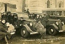 Soviético GAZ M-1 táxis em 1938