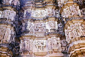 Khajuraho Group of Monuments - Erotic sculptures