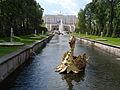 Канал Большой (Самсоновский) с фонтанными маскаронами, Петергоф, Петродворцовый район, Санкт-Петербург.JPG