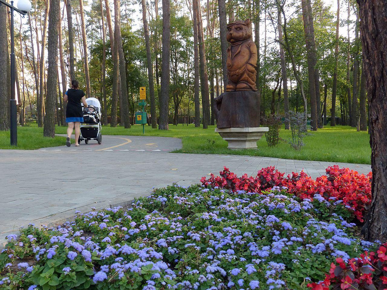 Самый большой на Украине парк деревянных скульптур