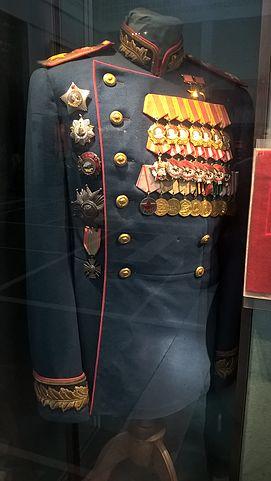 Китель К.К.Рокоссовского в Центральном Музее Вооруженных Сил Российской Федерации