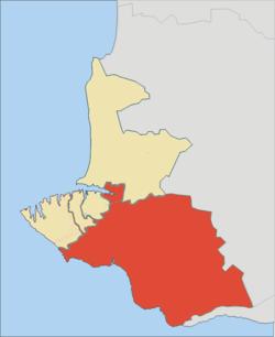 Vị trí của huyện Balaklava trong tỉnh Sevastopol