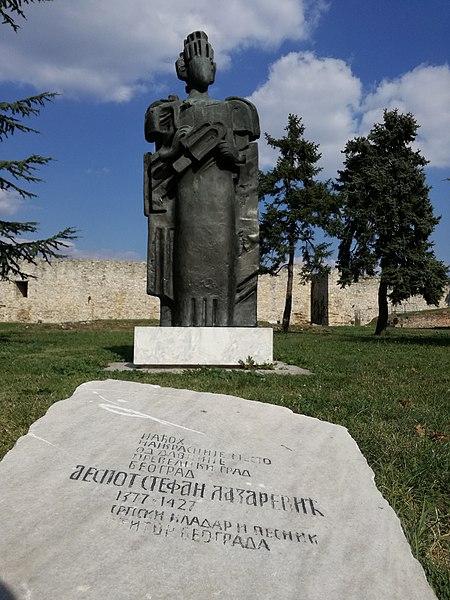 File:Споменик деспоту Стефану Лазаревићу на Калемегдану.jpg
