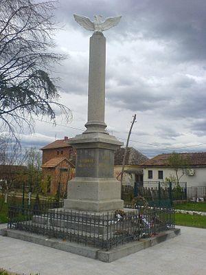 Battle of Mišar - Battle of Mišar, monument on Mišar