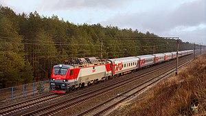 """Transmashholding - Image: Фирменный поезд """"Буревестник"""""""