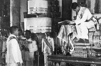 Constitution of Thailand - King Ananda Mahidol (Rama VIII) signs The 1946 Constitution of the Kingdom of Siam on 9 May 1946.