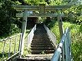 大淀町大岩 八幡神社の鳥居 Shrine gate of Hachiman-jinja, Ōiwa 2011.7.10 - panoramio.jpg