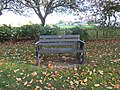 -2018-11-08 Long shot of Gotts dedicated bench, High street, Mundesley.JPG