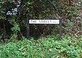 -2019-10-23 Street name sign, The Street, Aylmerton.JPG