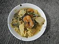 0099Nilagang repolyo, petsay Tagalog, kamote, patatas, kamatis at Pritong Dalag (Bulig) sa tanglad 23.jpg