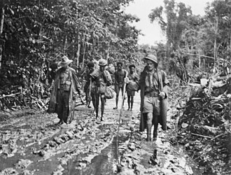 Battle of Buna–Gona - Rain turned the tracks to mud. AWM014187