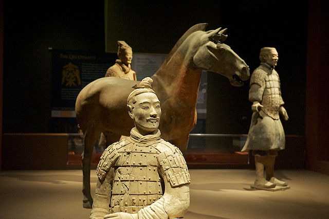 exposition of terracotta warriors and horses