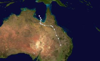 1910–21 Australian region cyclone seasons - Image: 02U 1911 track