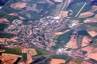 Poprad - Aerial view of the city with the airport