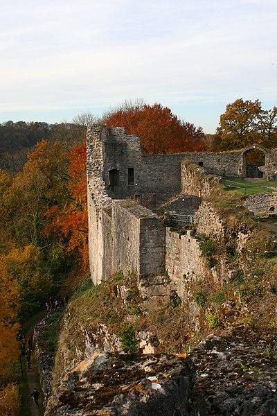 Castle ruins of Logne in Vieuxville, Belgium (IX-XVIIth centuries).