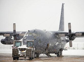 102d Rescue Squadron - 102d Rescue Squadron HC-130 in the 2010 New York City blizzard
