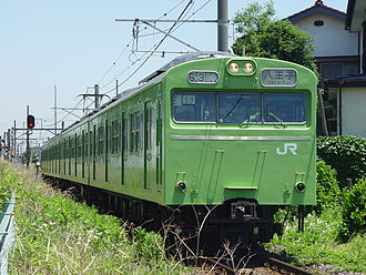 103 series - 4-car Kawagoe Line set 53, June 2004