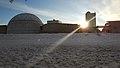 10 enero 2021, gran nevada en Madrid por la tormerta Filomena, Planetario.jpg