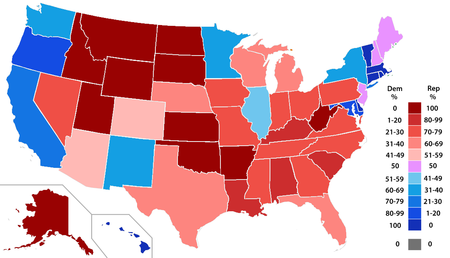 Th United States Congress Wikipedia - Us senate map 2015