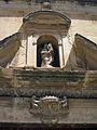 116 Església de Santa Maria, façana sud, fornícula i escut.jpg