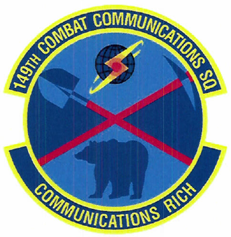 149th Combat Communications Squadron - 149th Combat Communications Squadron emblem
